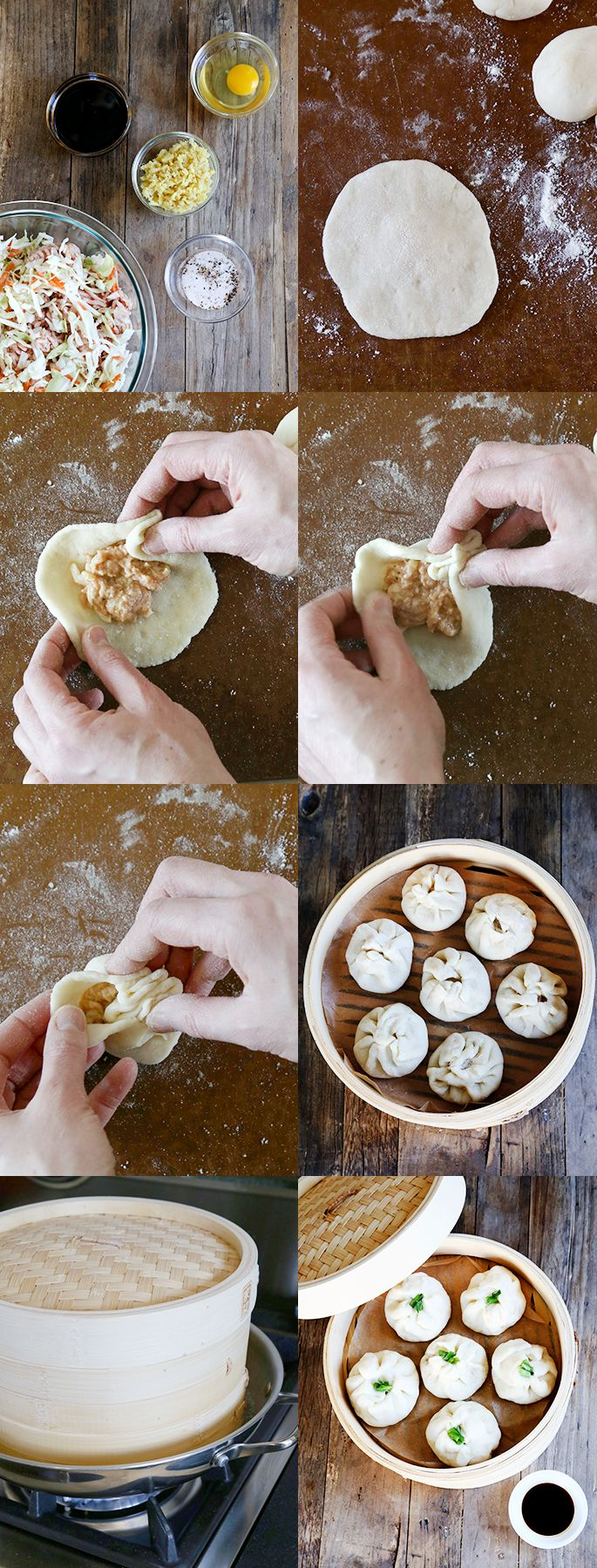 Gluten Free Steamed Chinese Meat Buns, Step by Step