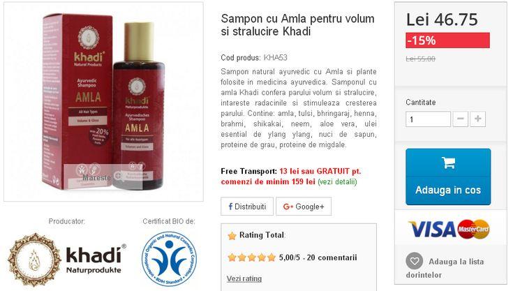 Sampon natural ayurvedic cu Amla si plante folosite in medicina ayurvedica.