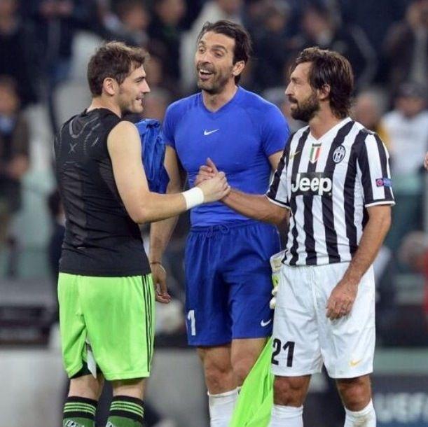 Andrea Pirlo, Iker Casillas and Gigi Buffon  The Legends