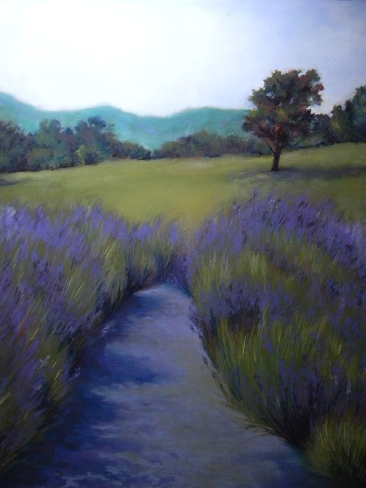 """""""Lavender Path"""" pastel on sanded paper, by Beth Williams, www.bethwilliamspastels.com"""