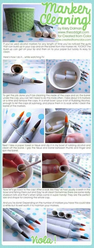 How to clean markers