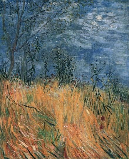 Van Gogh, Edge of a Wheatfield with Poppies, 1887.