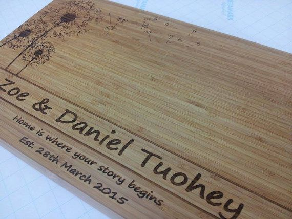 Personalised Bamboo Cutting Chopping Board by eightONEcreations