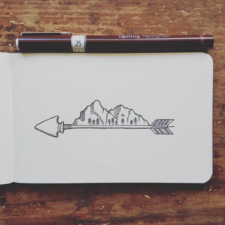 """143 Likes, 5 Comments - Sarah Hernandez (@lostswissmiss) on Instagram: """"A little arrow with a mountain range for this Friday as a thank you to all new followers this week.…"""""""
