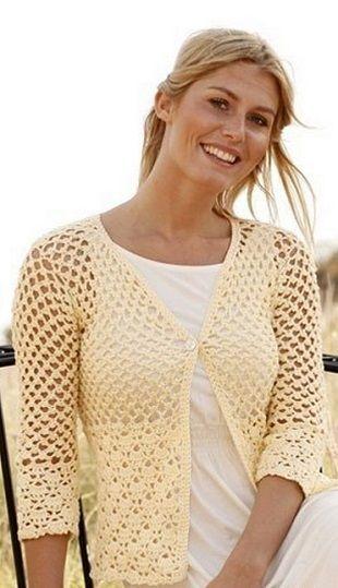 Knitting openwork jacket. The pattern of knitting and crochet jacket openwork description | Домоводство для всей семьи.