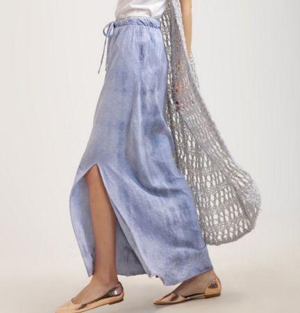 Aaiko MALHIA Długa spódnica bleached blue