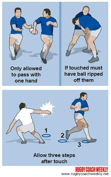 3 touch rugby games for better handling