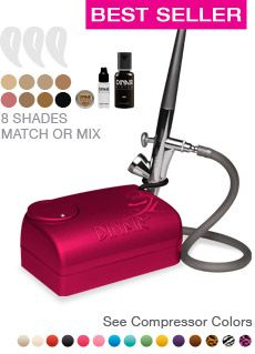 Airbrush Makeup Kits- can be used for spray tan too. The most amazing results, and easy.