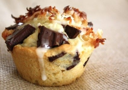 Chocolate Chunks and Coconut Drizzle | Recipe | Coconut Cakes, Coconut ...