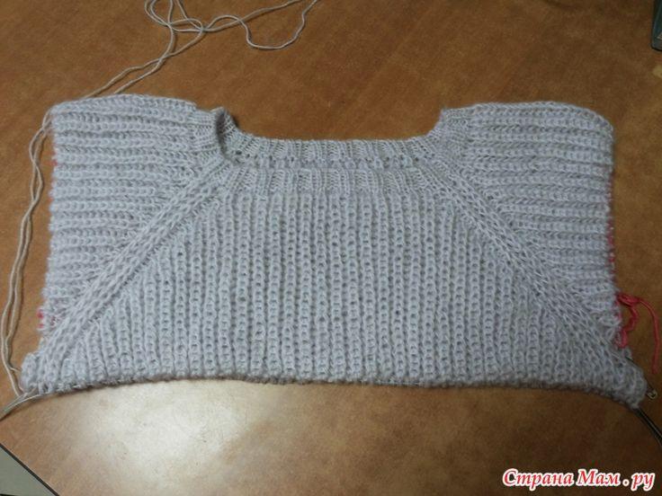 """Платье - свитер """"Белая зима"""" градиентом, патентной резинкой спицами, начала вязать, кто со мной...)))"""