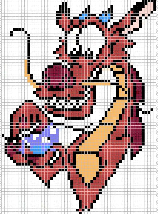 Mushu from Mulan pattern by ~Santian69 on deviantART