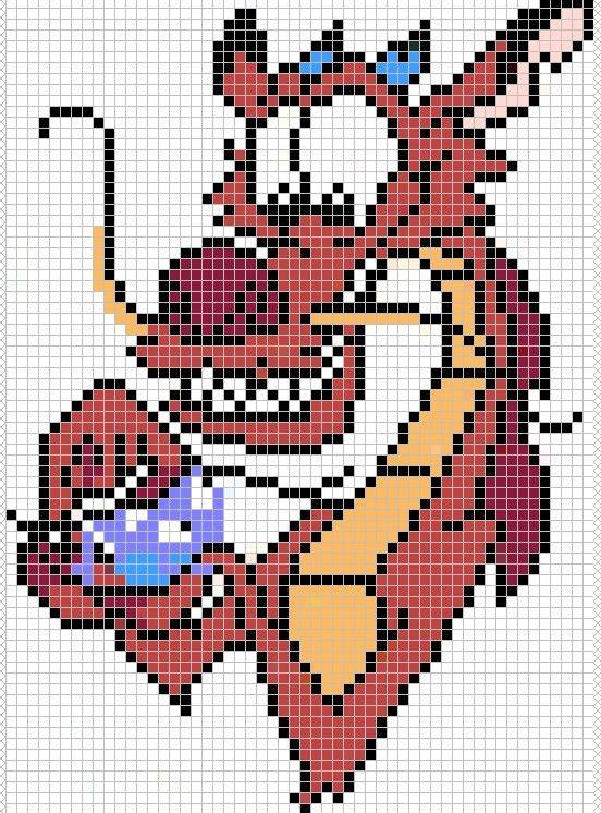Mushu from Mulan pattern by ~Santian69 on deviantART