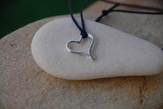Heart Shaped Functional Carabiners Sterling Silver Jewelry  The carabiner is fully functional !!!      If your order is 75$ or more the SHIPPING IS