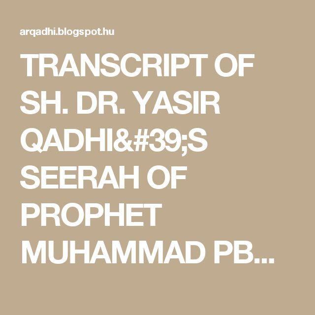 best seerah of prophet muhammad pdf