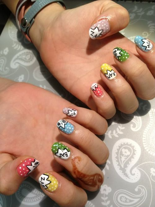 Probably the best nail art ever. ByKim.