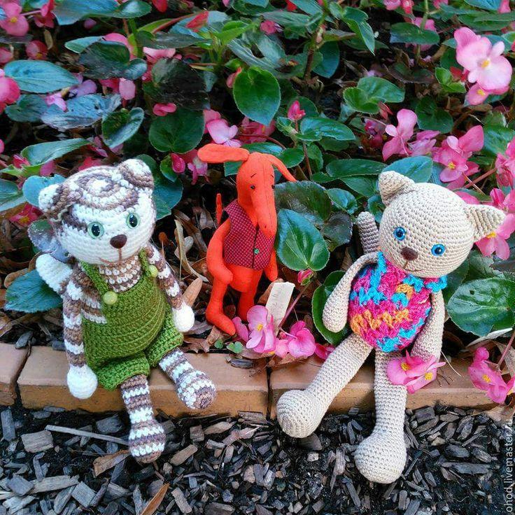 Купить Кот с мюклой. Кот. Набор. - комбинированный, кот, полосатый, Финдус, мюкла, игрушка в одежде
