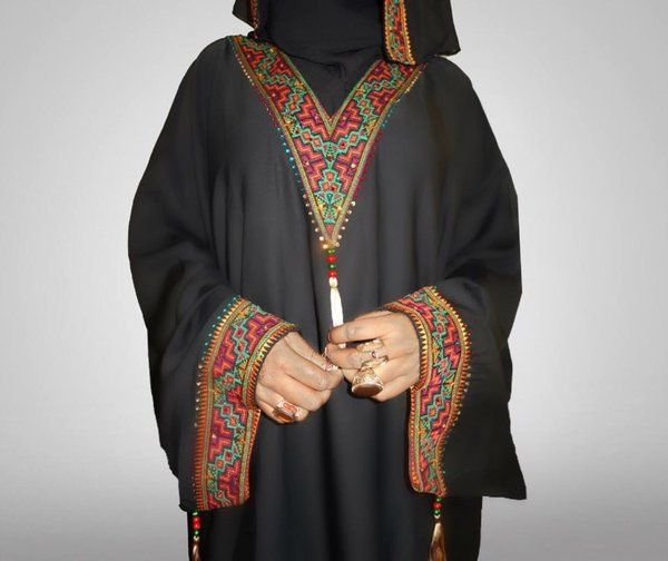 Tribal Bahraini Abaya | Amal clothing abaya thobe khaleeji hijab jilbab niqaab jewellery