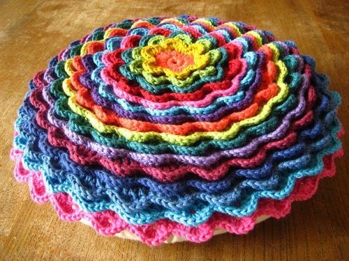 Fantastic crochet flower cushion from Attic24.