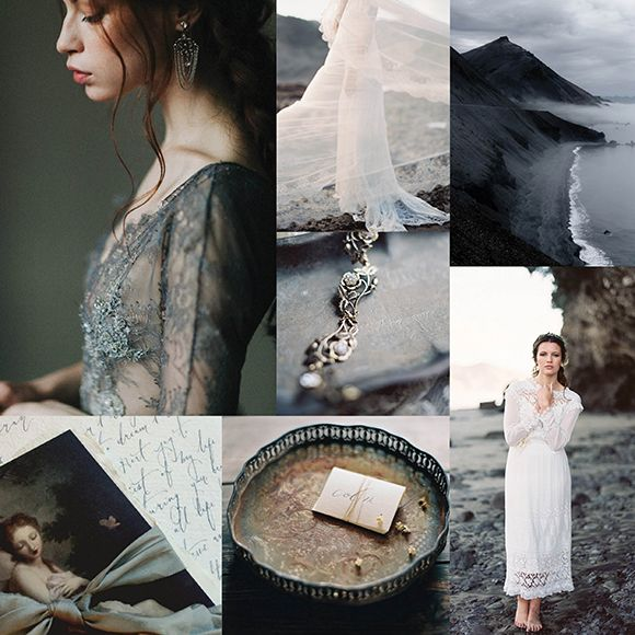 Dark and stormy wedding inspiration