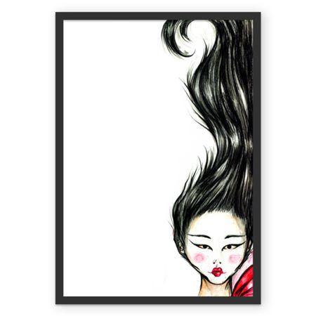 Gueixa, poster com aminha arte para decorar seu ambiente, disponível em colab55.com/@lilianandretta