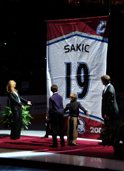 Sakic's Jersey Retirement. One of the greatest players in the history of hockey