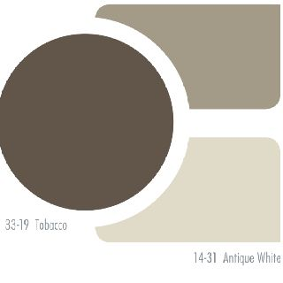 Exterior paints- mid color for house, darkest color for shutters, doors & railings, and lightest color for trim!