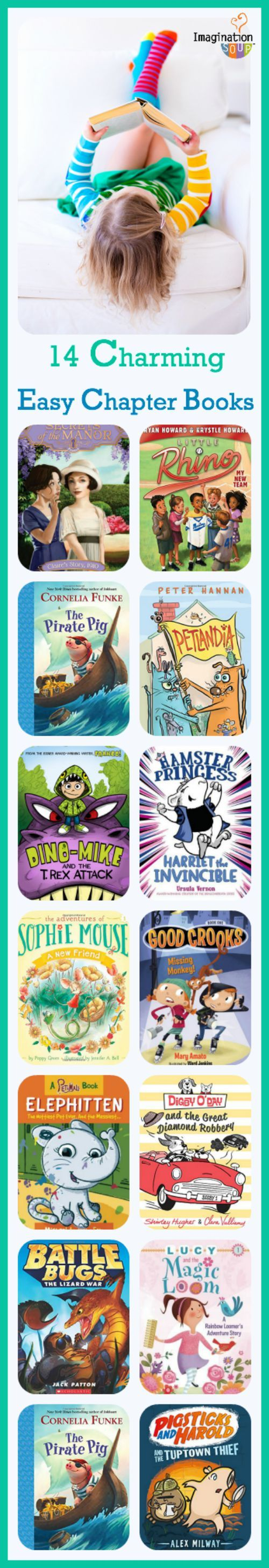 14 NEW charming easy chapter book reviews & recommendations - love these lists from Imagination Soup!