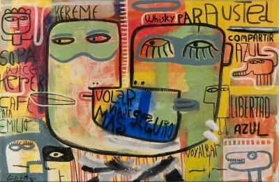 Milo Lockett. 1967. Sus referentes se encuentran en la obra de Jorge de la Vega, Adolfo Nigro, Rómulo Macció y Mariano Ernesto Deira. Actualmente vive en Buenos Aires. En la blanca galería de la calle Costa Rica, en Palermo, se exponen sus obras en forma permanente.