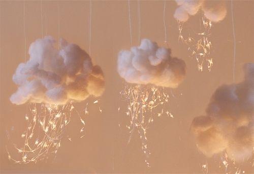 clouds: Clouds, Ideas, Stuff, Kids Room, Cloud Lights, Baby Room, Diy, Crafts