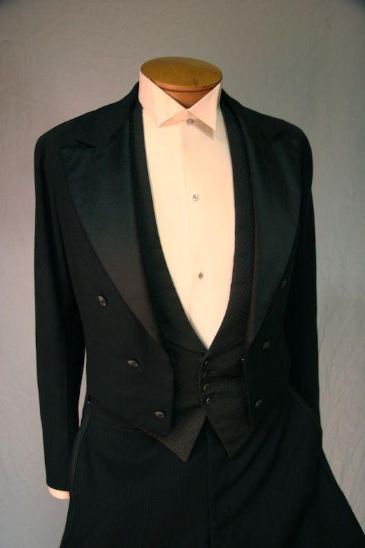 1920s tuxedo shirt