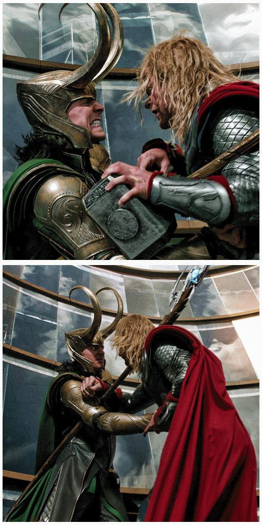 Loki & Thor  Sentiment will get you stabbed in the liver...just sayin....