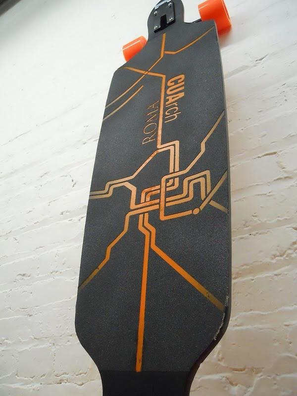 laser cut grip tape for skateboard