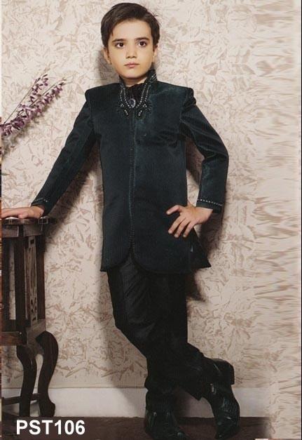 More Peach Prince Suit with Trouser - Jodhpuri Suits - Ethnics
