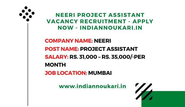 Neeri Project Assistant Vacancies In 2020 Assistant Jobs Jobs For Freshers Civil Engineering Jobs