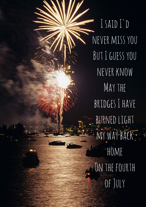 fourth of july fall out boy official lyrics