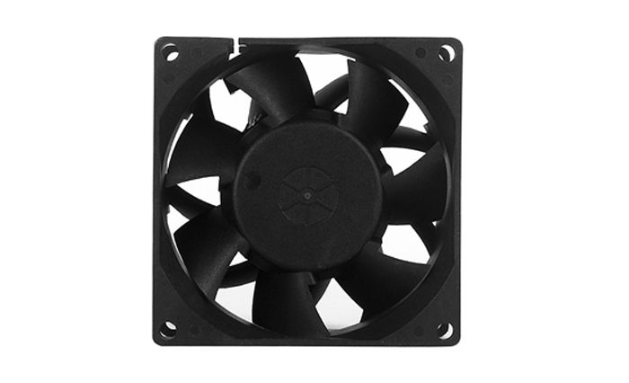 80mm High Speed Air Flow Cfm Static Pressure Dc Cooling Fan