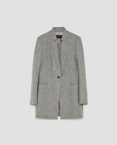 WOOL FROCK COAT WITH DOUBLE LAPEL COLLAR-BLAZERS-WOMAN-NEW COLLECTION | ZARA United States