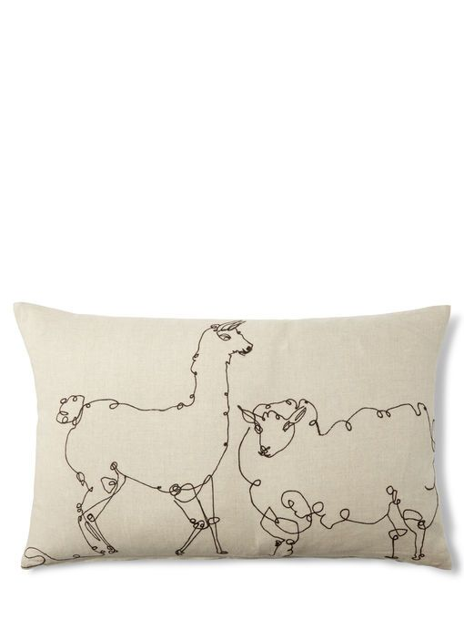 Embroidered animal pillow ed pinterest pillows