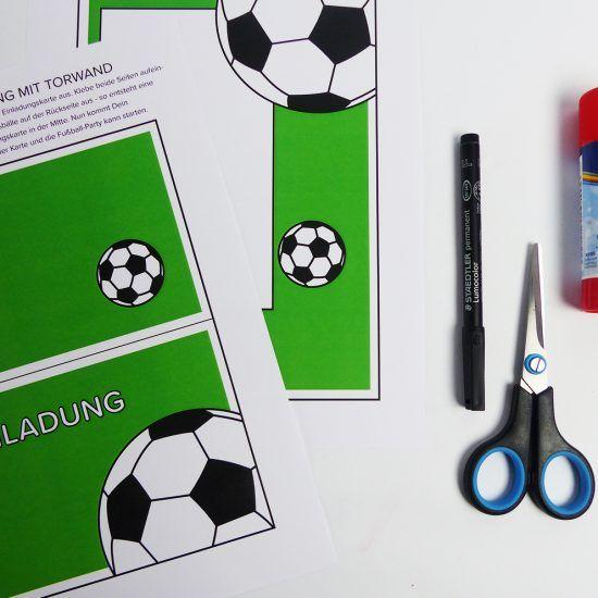 die besten 25+ einladung kindergeburtstag basteln fussball ideen, Einladung