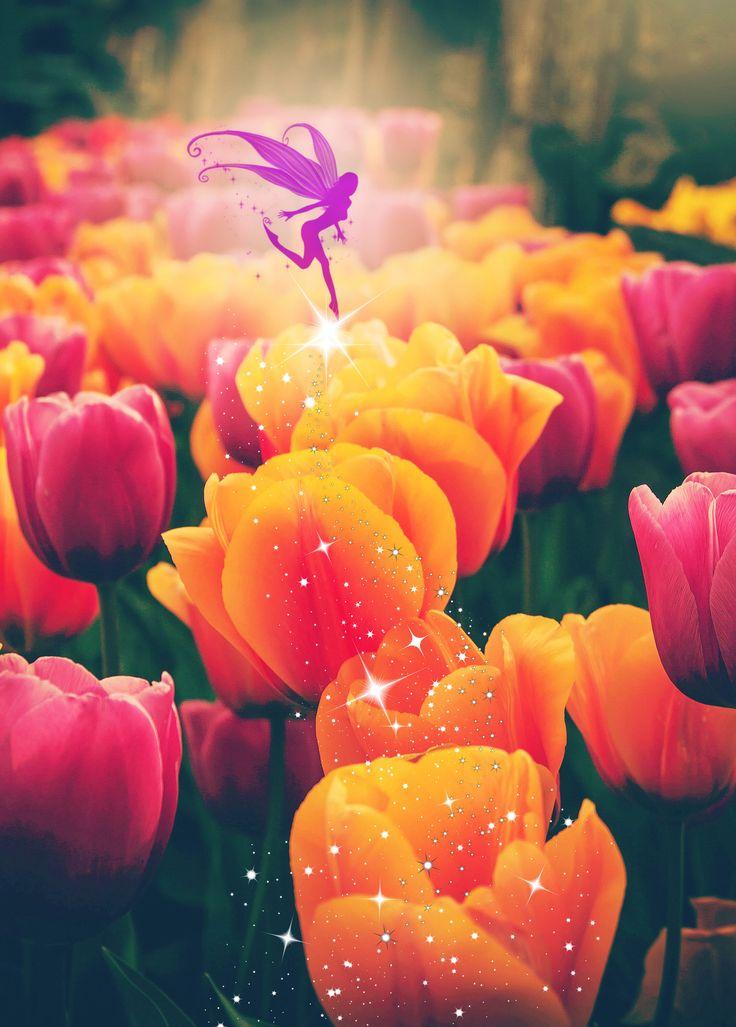 Tulip Fairy by EnchantedWindow on Etsy https://www.etsy.com/listing/529598746/tulip-fairy