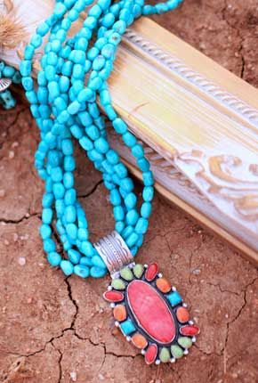 Southwestern Necklaces | Southwestern Turquoise Necklaces by Don Lucas Jewelry
