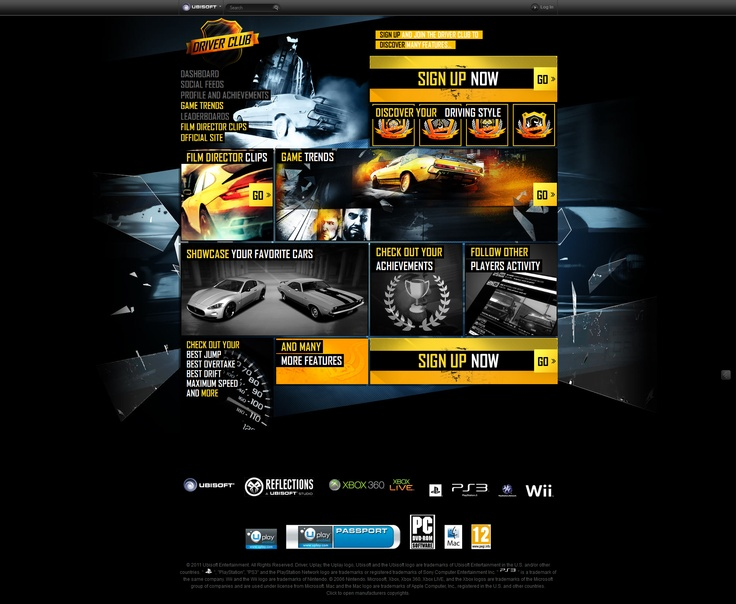 Webdesign Car Service/ Car racing