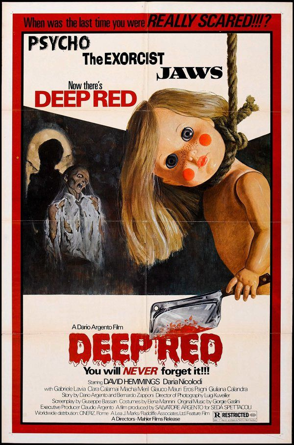 Deep Red (Profondo Rosso) 1975 - Giallo - Horror - Movie - Poster flimmerstube.com - Free Horror Movies, English and German Language! - flimmerstube.com - Gratis Horror Streams in englischer und deutscher Sprache!