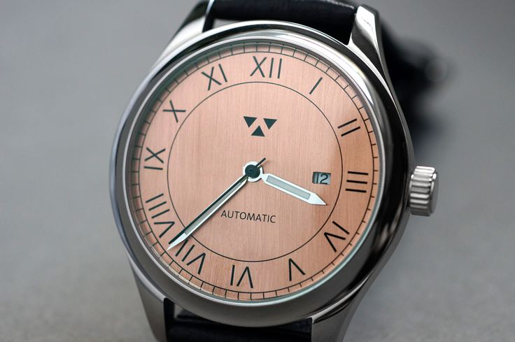 Here's 'The Classic' but with an automatic movement and with a naked copper dial. Black super-luminova pigment is used instead of the white in the previous example.
