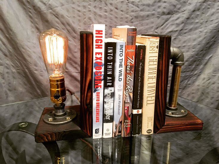 Excited to share the latest addition to our #etsy shop: Yakisugi - Shou Sugi Ban Industrial Bookends & Pipe Lamp http://etsy.me/2D8fUl0 #booksandzines #brown #bronze #bedroom #books #industrial #lighting #desklamp #bookends