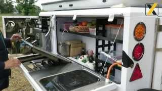 cross country trailers - YouTube video from a Metalian Maxi Off Road Trailer together with a James Baroud Off Road Tent.