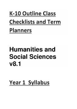 Taken from the K-10 Outline Year 1 Syllabus.Checklist and Term Planner based on the West Australian Curriculum. http://k10outline.scsa.wa.edu.au/home/p-10-curriculum/curriculum-browser*Coming soon!! I will be making more of these checklists for all the grade levels.