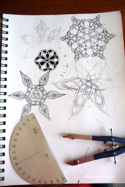 celtic knot snowflakes