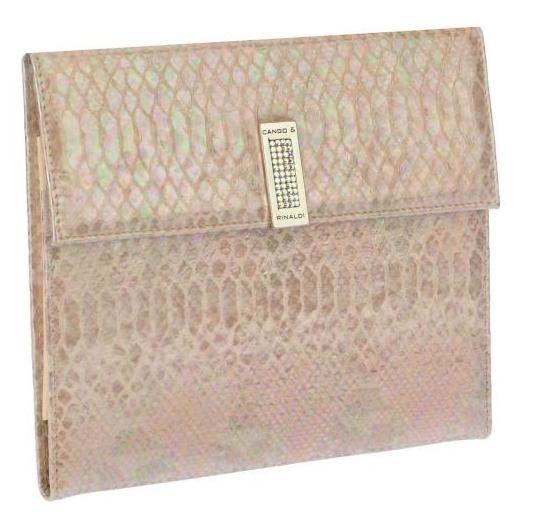 Cango & Rinaldi, Kiiltävänahkainen iPad-laukku.