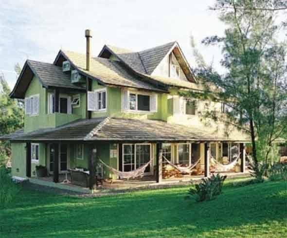 Fachada-verde-para-casas-é-a-nova-tendência-009 #fachadasverdes